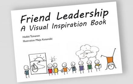 Kaverijohtamisen visuaalisen innostuskirjan käännös ilmestyi