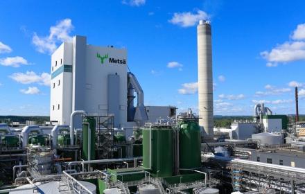 MetsäGroupin biotuotetehdas käynnistyi