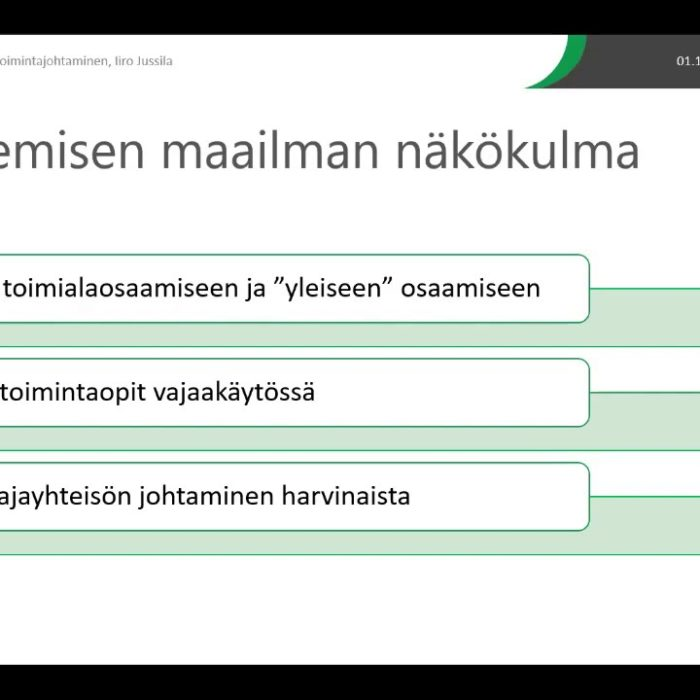 Pellervon Aamu 1.10.: Iiro Jussila ja osuustoimintajohtaminen -tallenne